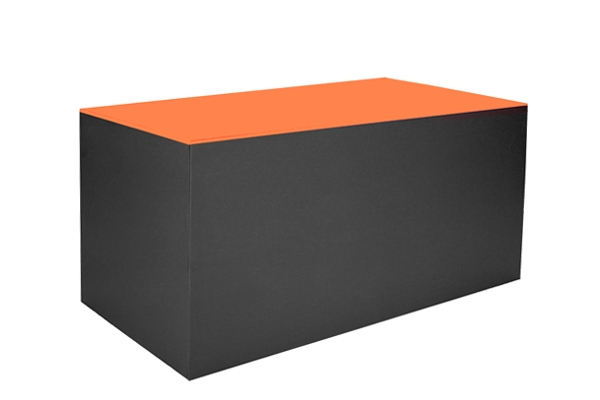 Buffet Koffre noir, orange