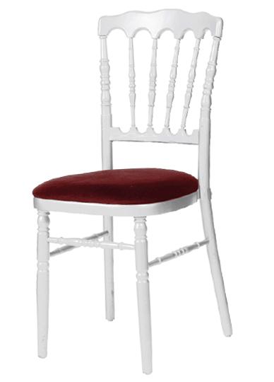 Location de mobilier location de chaises i sur un plateau for Chaise napoleon blanche