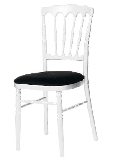 Location de mobilier location de chaises i sur un plateau - Chaise blanche et noir ...