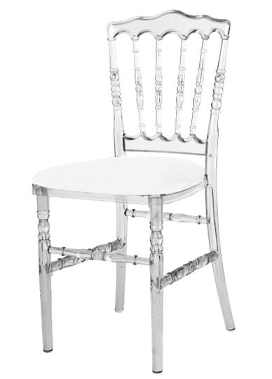 Location de mobilier location de chaises i sur un plateau - Chaise napoleon transparente ...