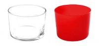 Verres-Bodega-20cl-h6-transparent-rouge