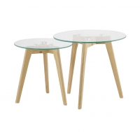 TABLE-GIGOGNE-SCANDY-PLATEAU-VERRE