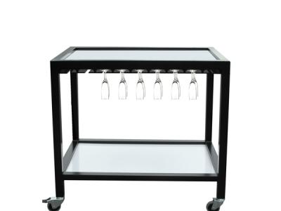 Table roulante avec verres 60x90