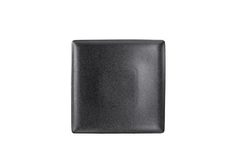 Assiette Onyx carré noir 26x26